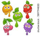vector collection of fresh... | Shutterstock .eps vector #589794830