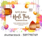 indian holi traditional...   Shutterstock .eps vector #589798769