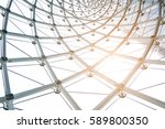 building construction of metal... | Shutterstock . vector #589800350