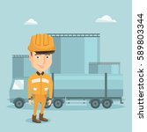 refinery worker of oil and gas... | Shutterstock .eps vector #589803344