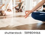 group of people sitting and... | Shutterstock . vector #589804466