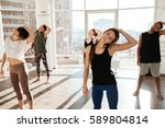 photo of group engaged yoga... | Shutterstock . vector #589804814