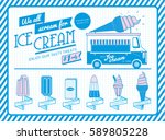 vintage ice cream menu template ... | Shutterstock .eps vector #589805228