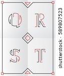 elegant  stylish and minimal... | Shutterstock .eps vector #589807523