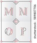 elegant  stylish and minimal...   Shutterstock .eps vector #589807706