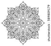 round ethnic mandala. hand... | Shutterstock .eps vector #589809179