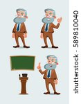 Set Of Professor Characters...