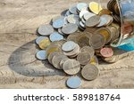 money coins in each position | Shutterstock . vector #589818764