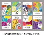 collection of trendy creative... | Shutterstock .eps vector #589824446