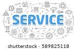linear flat illustration for... | Shutterstock .eps vector #589825118