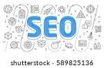 linear flat illustration for... | Shutterstock .eps vector #589825136