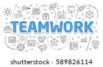 linear flat illustration for... | Shutterstock .eps vector #589826114