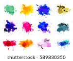 colorful paint splatters | Shutterstock .eps vector #589830350