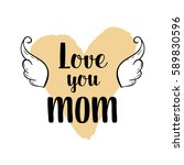 happy mothers's day greeting... | Shutterstock .eps vector #589830596