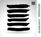 brush stroke and texture.... | Shutterstock .eps vector #589836380
