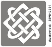 monochrome icon with celtic art ... | Shutterstock .eps vector #589841954