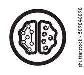 flat black brain web icon in... | Shutterstock . vector #589846898