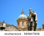 palermo majestic cathedral of... | Shutterstock . vector #589847858