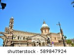 palermo majestic cathedral of... | Shutterstock . vector #589847924