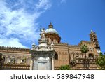 palermo majestic cathedral of... | Shutterstock . vector #589847948