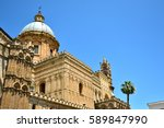palermo majestic cathedral of... | Shutterstock . vector #589847990