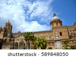 palermo majestic cathedral of... | Shutterstock . vector #589848050