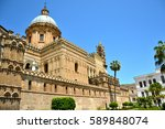 palermo majestic cathedral of... | Shutterstock . vector #589848074