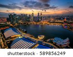 singapore city panoramic from... | Shutterstock . vector #589856249