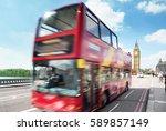 motion bus in london  uk | Shutterstock . vector #589857149