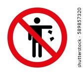 No Littering. Do Not Litter Sign