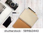 laptop  smart phone  bank card  ... | Shutterstock . vector #589863443