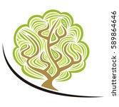 beautiful tree. vector...   Shutterstock .eps vector #589864646