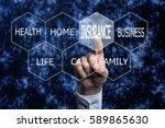insurance concept | Shutterstock . vector #589865630