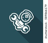 assistance time icon | Shutterstock .eps vector #589866179