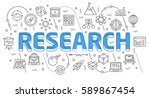 linear flat illustration for... | Shutterstock . vector #589867454