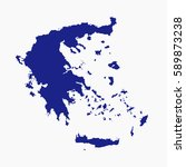 vector map   greece on white... | Shutterstock .eps vector #589873238