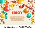 festive celebration concept... | Shutterstock .eps vector #589878434