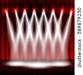 luxury stage background with... | Shutterstock .eps vector #589879250