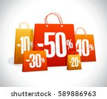 sale poster  many paper... | Shutterstock .eps vector #589886963