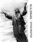 Jesus In Black   White