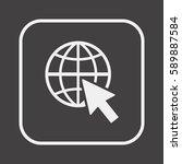 website  icon vector. flat...   Shutterstock .eps vector #589887584