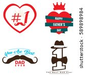 happy fathers day graphic... | Shutterstock .eps vector #589898984