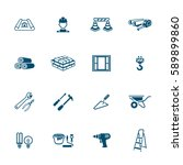 construction icons   micro... | Shutterstock .eps vector #589899860