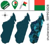vector map of madagascar with...