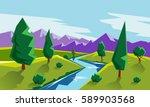 Flat Style Landscape...