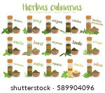set of 15 different culinary...   Shutterstock .eps vector #589904096