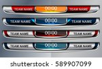 scoreboard broadcast graphic... | Shutterstock .eps vector #589907099