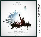 silhouette of dancing people | Shutterstock .eps vector #589907963