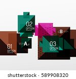 modern square composition ... | Shutterstock .eps vector #589908320