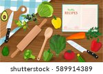 healthy eating and tasty... | Shutterstock .eps vector #589914389